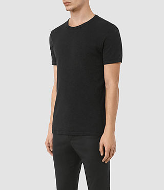 Herren Aries Crew T-Shirt (Black) - product_image_alt_text_2