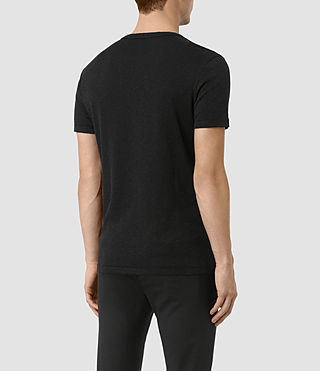Herren Aries Crew T-Shirt (Black) - product_image_alt_text_3