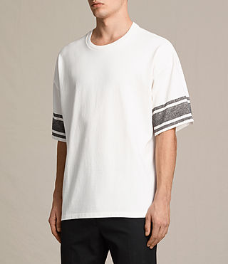 Mens Gosford Crew T-Shirt (Chalk White) - product_image_alt_text_2