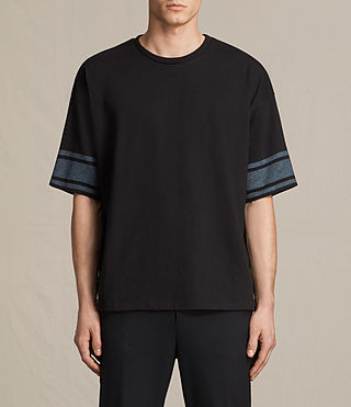 Mens Gosford Crew T-Shirt (Jet Black) - product_image_alt_text_1