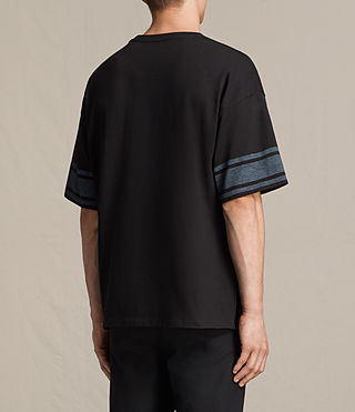 Mens Gosford Crew T-Shirt (Jet Black) - product_image_alt_text_4