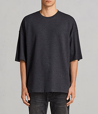 Men's Torny Short Sleeve Crew Sweatshirt (CINDER MARL/BLACK) - Image 1