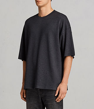 Men's Torny Short Sleeve Crew Sweatshirt (CINDER MARL/BLACK) - Image 2