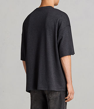 Men's Torny Short Sleeve Crew Sweatshirt (CINDER MARL/BLACK) - Image 3