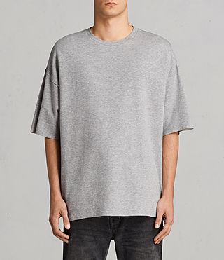 Mens Torny Short Sleeve Crew Sweatshirt (GREY MARL/CEMENT) - Image 1