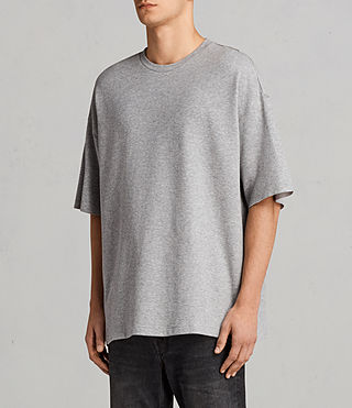Men's Torny Short Sleeve Crew Sweatshirt (GREY MARL/CEMENT) - Image 2
