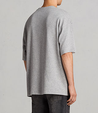Mens Torny Short Sleeve Crew Sweatshirt (GREY MARL/CEMENT) - Image 3