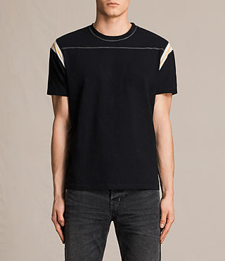 Mens Cliffon Crew T-Shirt (Jet Black)