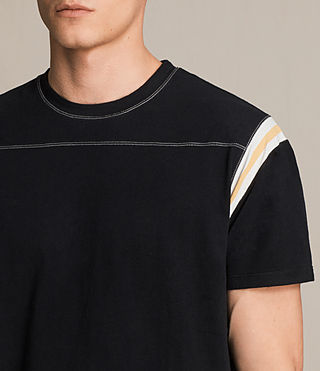 Men's Cliffon Crew T-Shirt (Jet Black) - product_image_alt_text_2