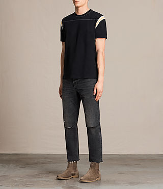 Men's Cliffon Crew T-Shirt (Jet Black) - product_image_alt_text_3