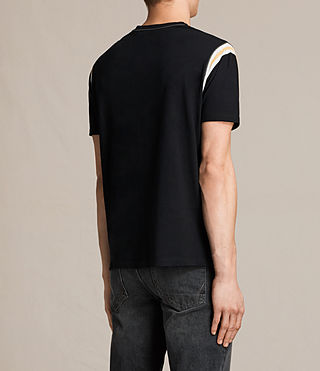 Men's Cliffon Crew T-Shirt (Jet Black) - product_image_alt_text_4