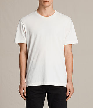 Uomo Mayther Crew T-Shirt (Chalk White) - product_image_alt_text_2