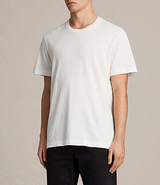 Uomo Mayther Crew T-Shirt (Chalk White) - product_image_alt_text_3