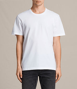 Hombres Camiseta Mayther (Optic White) -
