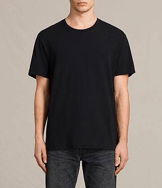 Mens Mayther Crew T-Shirt (Jet Black) - product_image_alt_text_1