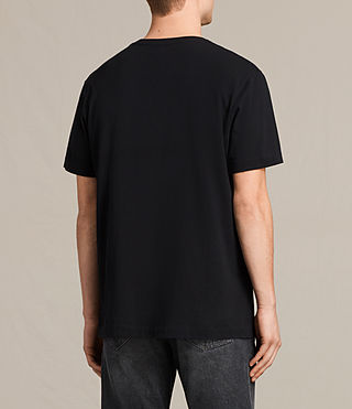 Mens Mayther Crew T-Shirt (Jet Black) - product_image_alt_text_3