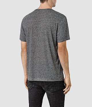 Hombres Dorado Crew T-Shirt (Black) - product_image_alt_text_3