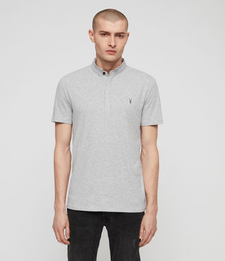 Mens Grail Polo Shirt (Grey Marl) - product_image_alt_text_1