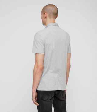 Mens Grail Polo Shirt (Grey Marl) - Image 4