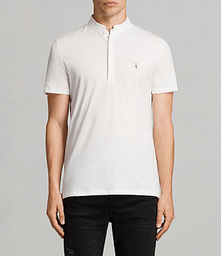 Mens Grail Polo Shirt (Chalk White) - product_image_alt_text_1