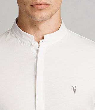 Mens Grail Polo Shirt (Chalk White) - Image 2