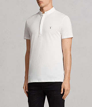 Mens Grail Polo Shirt (Chalk White) - Image 3