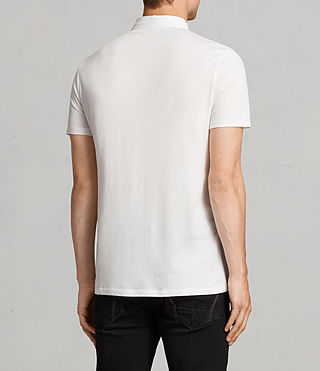 Mens Grail Polo Shirt (Chalk White) - Image 4