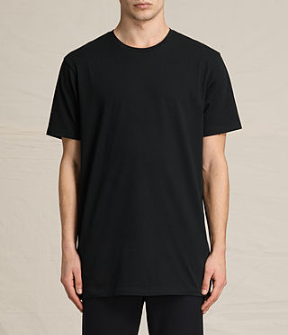 Mens Astra Short Sleeve Crew Sweater (Jet Black) - product_image_alt_text_1