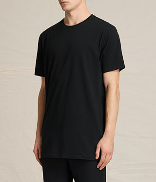 Hombres Astra Short Sleeve Crew Sweater (Jet Black) - product_image_alt_text_2