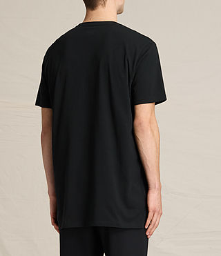 Hombres Astra Short Sleeve Crew Sweater (Jet Black) - product_image_alt_text_3