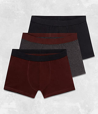 Hommes Pack de 3 Boxers Morrall (RED/CHARCOAL/BLACK) - Image 1