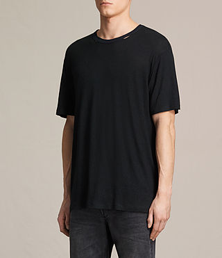 Herren Stourbridge Crew T-Shirt (JET BLACK/INK NAVY) - product_image_alt_text_3