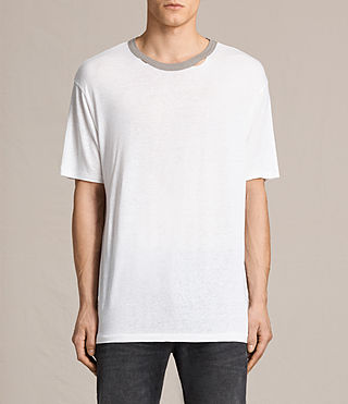 Herren Stourbridge Crew T-Shirt (CHALK WHITE/PUTTY)