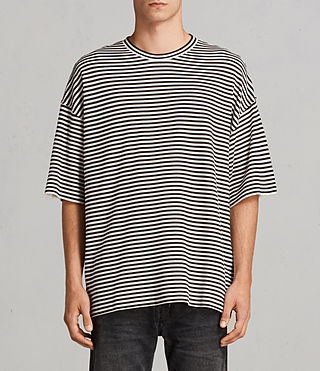 Hommes T-shirt Torny Stripe (Black/White) -