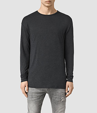 Mens Sour Long Sleeve Crew T-Shirt (Washed Black)