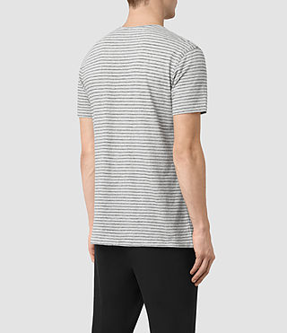 Hommes T-shirt Serpenz (GREY MARL/WHITE) - product_image_alt_text_3