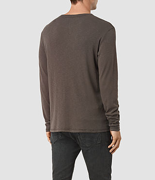 Uomo Aries Long Sleeve Crew T-Shirt (Khaki Brown) - product_image_alt_text_3