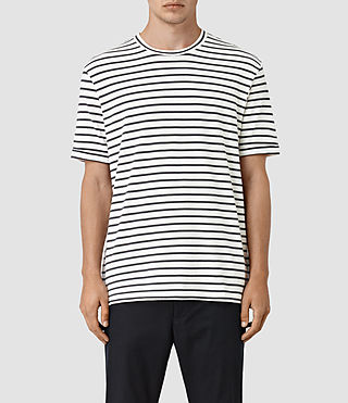 Hommes Hydra Crew T-Shirt (POWDER WHITE/BLACK)