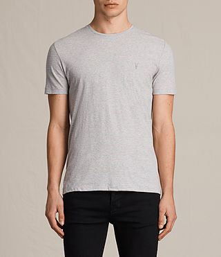 Men's Tonic Moor Crew T-Shirt (GREY MARL/PINK) -