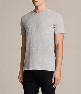 Men's Tonic Moor Crew T-Shirt (GREY MARL/PINK) - product_image_alt_text_3