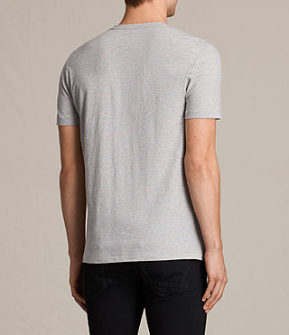 Men's Tonic Moor Crew T-Shirt (GREY MARL/PINK) - product_image_alt_text_4