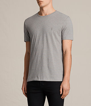Uomo Tonic Moor Crew T-Shirt (PUTTY BROWN/GREY) - product_image_alt_text_3
