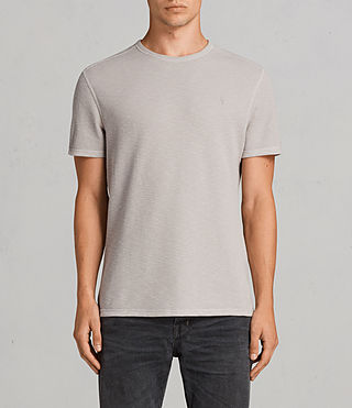 Mens Clash Crew T-Shirt (Pebble Grey) - Image 1