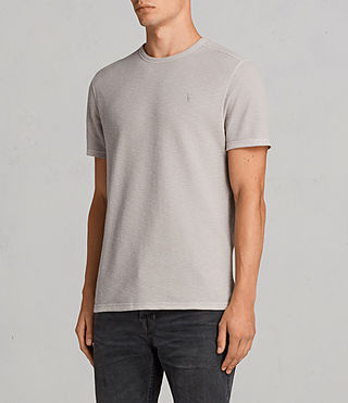 Mens Clash Crew T-Shirt (Pebble Grey) - product_image_alt_text_3