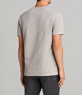 Mens Clash Crew T-Shirt (Pebble Grey) - product_image_alt_text_4