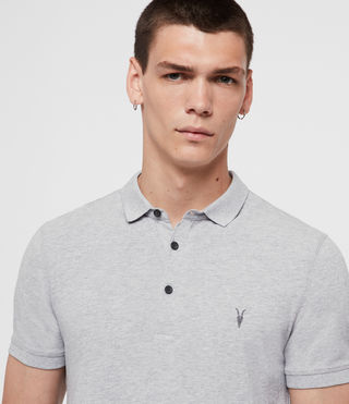Hombres Reform Polo Shirt (Grey Marl) - product_image_alt_text_2