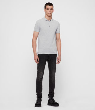 Hombres Reform Polo Shirt (Grey Marl) - product_image_alt_text_3