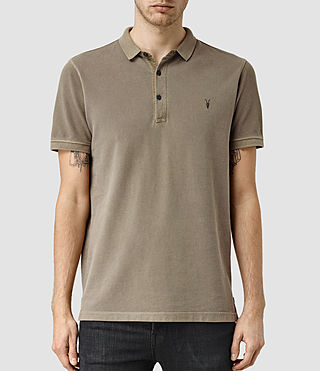 Mens Reform Polo Shirt (Washed Khaki) - product_image_alt_text_1