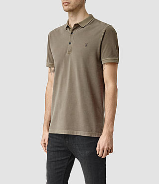 Mens Reform Polo Shirt (Washed Khaki) - product_image_alt_text_2