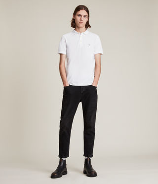 Mens Reform Polo Shirt (Optic White) - product_image_alt_text_3